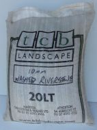 Washed River Stone 10mm - 20ltr bag
