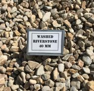 Washed River Stone 40mm (bulk)