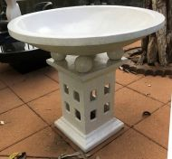 Bird Bath - 80cm high, 80cm dia bowl