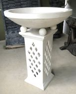 Bird Bath - 90cm high, 66cm dia bowl