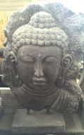 Buddha Face - mounted on stand