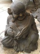 Monk - Sitting - Smiling