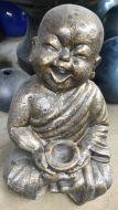 Monk - Sitting - Laughing