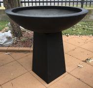 Bird Bath - Suzi Bowl on Stand - Charcoal Black