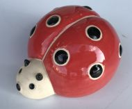 Lady Bug - Red Glazed