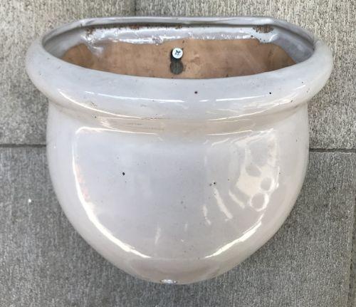 Wall Pot - Glazed - White