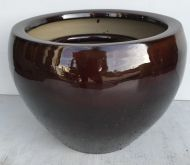 Squat Pot - Brown