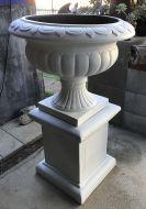 Barcoo Planter & Pedestal - White