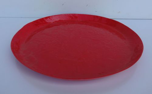 Saucer - Round - Bright Red